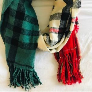 Urban Outfitters Plaid Wrap Scarf